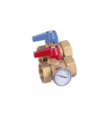 Kogelkraan met wartelmoer,dichting en thermometer